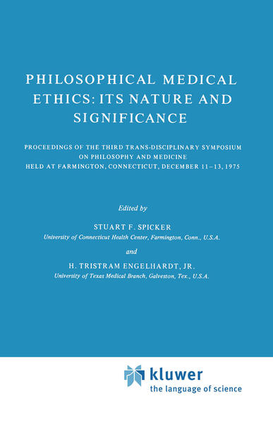 Philosophical Medical Ethics: Its Nature and Significance - Coverbild