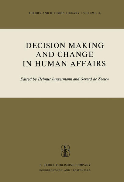 Decision Making and Change in Human Affairs - Coverbild