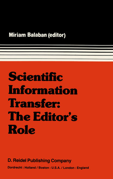 Scientific Information Transfer: The Editor's Role - Coverbild