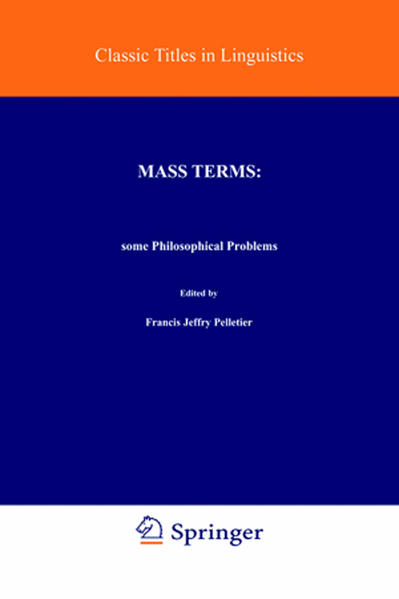 Mass Terms: Some Philosophical Problems - Coverbild