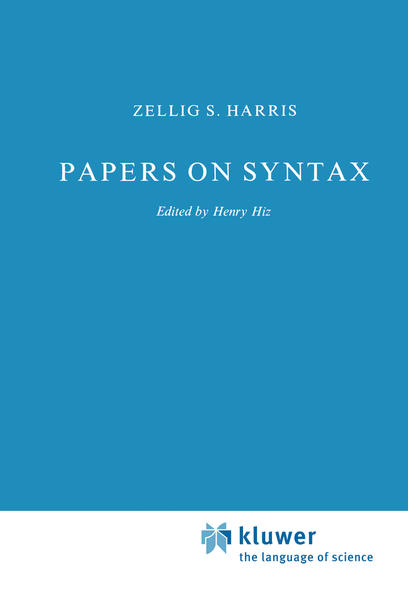 Papers on Syntax - Coverbild