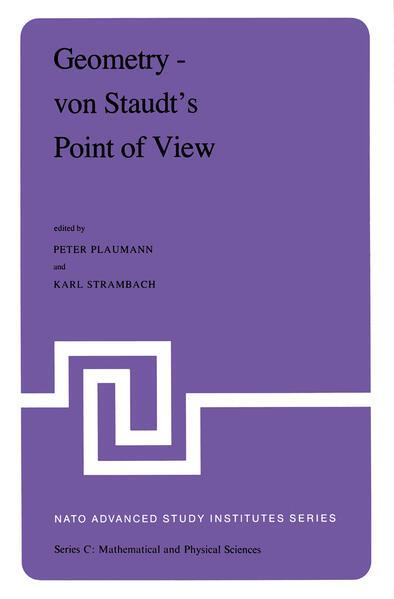 Geometry — von Staudt's Point of View - Coverbild