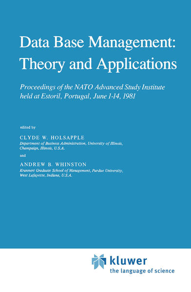 Data Base Management: Theory and Applications - Coverbild
