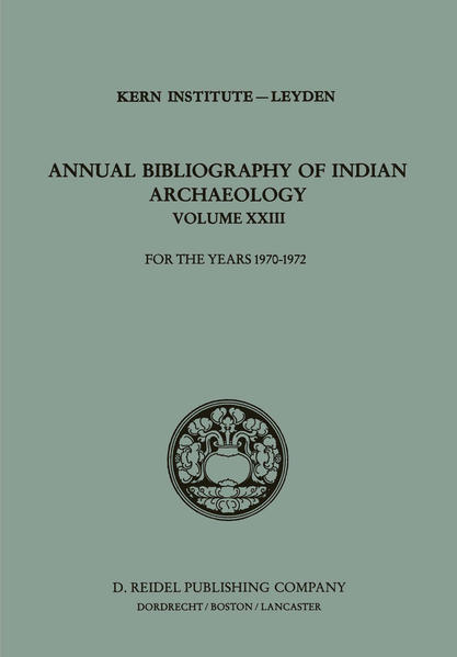 Annual Bibliography of Indian Archaeology - Coverbild