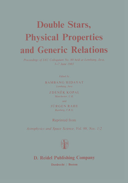 Double Stars, Physical Properties and Generic Relations - Coverbild
