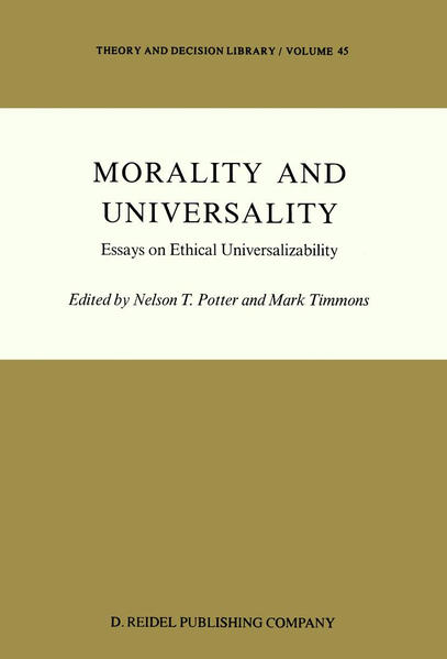 Morality and Universality - Coverbild