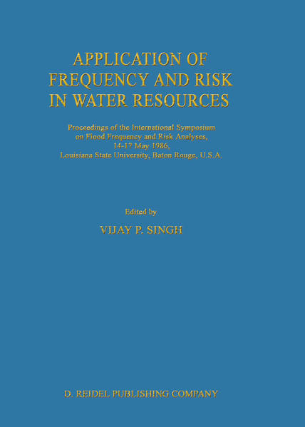 Application of Frequency and Risk in Water Resources - Coverbild