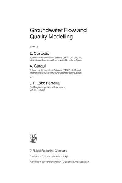 Groundwater Flow and Quality Modelling - Coverbild