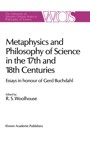 Metaphysics and Philosophy of Science in the Seventeenth and Eighteenth Centuries - Coverbild