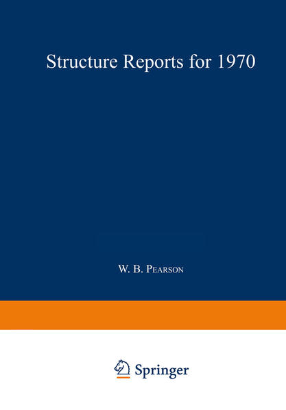 Structure Reports for 1970 - Coverbild