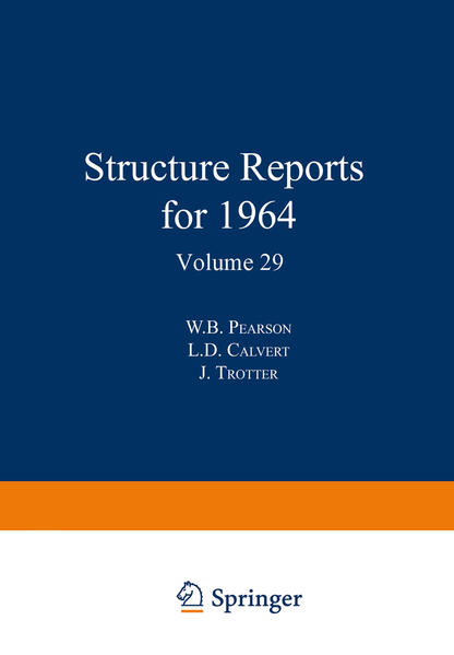 Structure Reports for 1964 - Coverbild