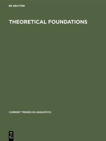 Current Trends in Linguistics / Theoretical Foundations - Coverbild