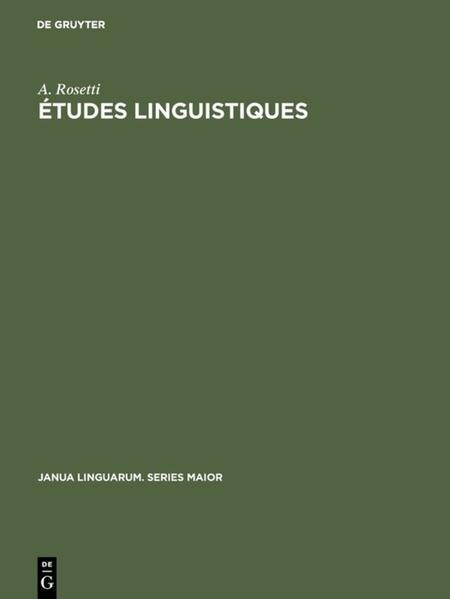 Etudes linguistiques - Coverbild
