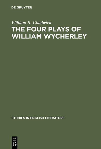 The four plays of William Wycherley - Coverbild