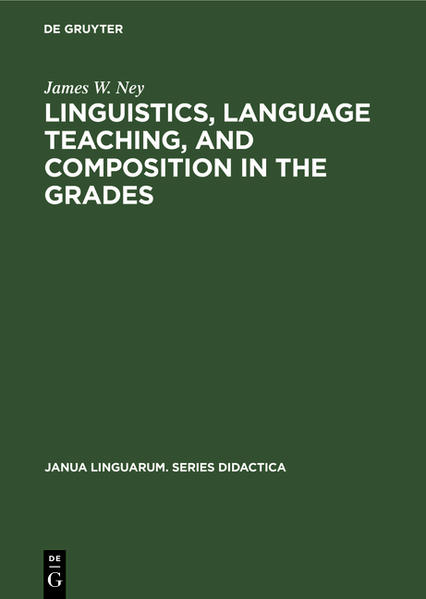 Linguistics, language teaching, and composition in the grades - Coverbild