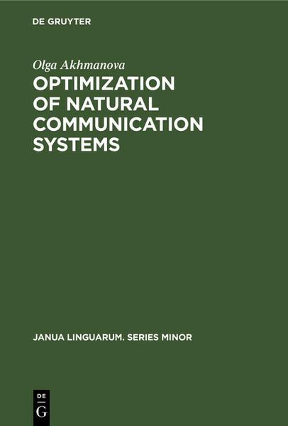 AKHMANOVA:OPTIMIZATION OF COMMUN SYST    JLMI    92 - Coverbild