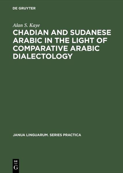 Chadian and Sudanese Arabic in the Light of Comparative Arabic Dialectology - Coverbild