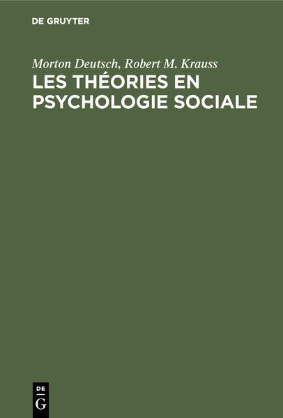 Les théories en psychologie sociale - Coverbild