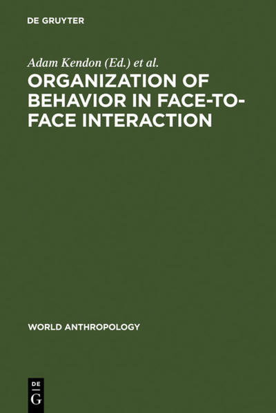 Organization of Behavior in Face-to-Face Interaction - Coverbild