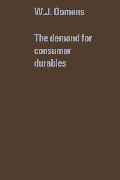 The demand for consumer durables - Coverbild