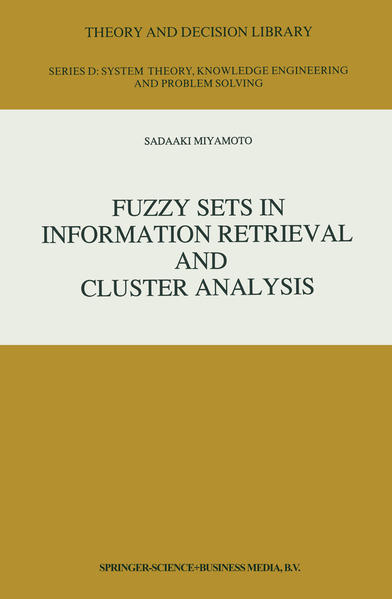 Fuzzy Sets in Information Retrieval and Cluster Analysis - Coverbild