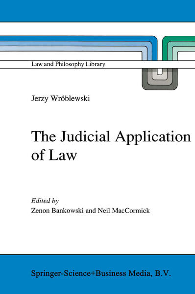 The Judicial Application of Law - Coverbild