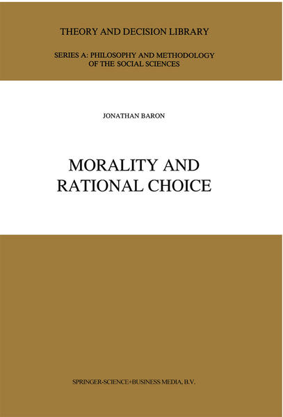 Morality and Rational Choice - Coverbild