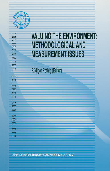 Valuing the Environment: Methodological and Measurement Issues - Coverbild