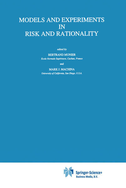 Models and Experiments in Risk and Rationality - Coverbild