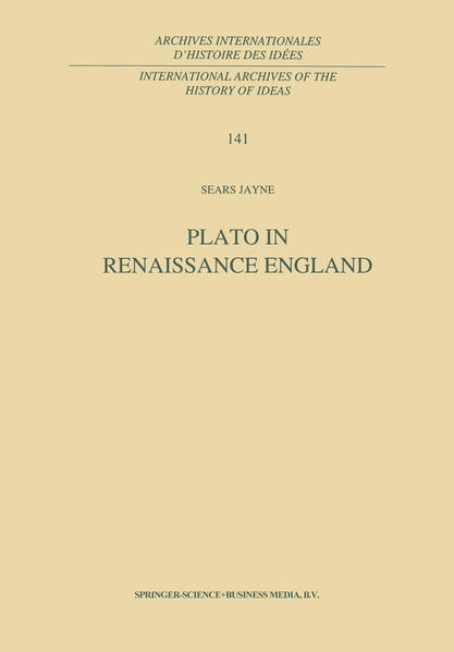 Plato in Renaissance England - Coverbild
