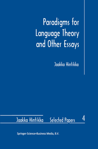 Paradigms for Language Theory and Other Essays - Coverbild