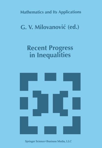 Recent Progress in Inequalities - Coverbild