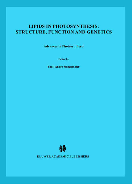 Lipids in Photosynthesis: Structure, Function and Genetics - Coverbild