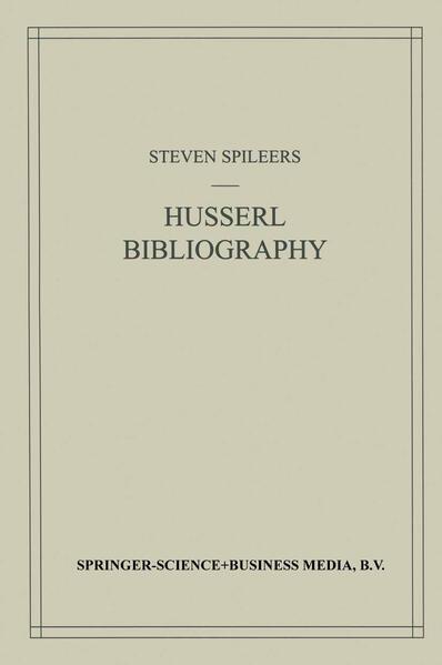 Edmund Husserl Bibliography - Coverbild