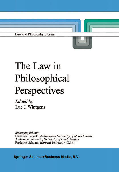 The Law in Philosophical Perspectives - Coverbild