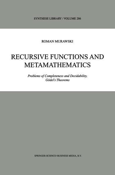 Recursive Functions and Metamathematics - Coverbild