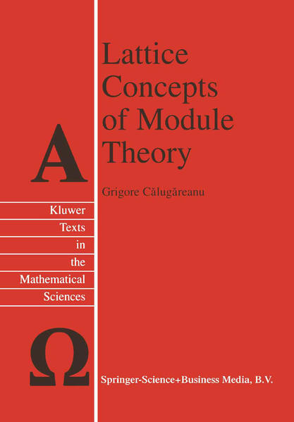 Lattice Concepts of Module Theory - Coverbild
