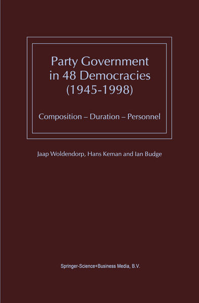 Party Government in 48 Democracies (1945–1998) - Coverbild