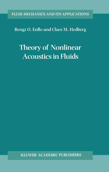 Theory of Nonlinear Acoustics in Fluids - Coverbild