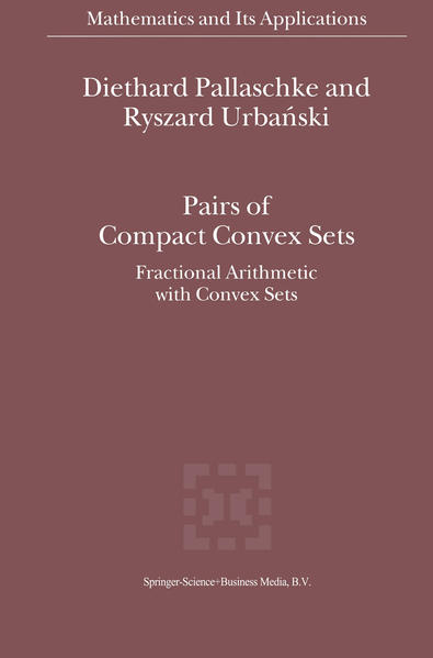 Pairs of Compact Convex Sets - Coverbild