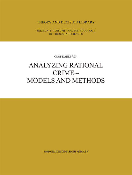 Analyzing Rational Crime — Models and Methods - Coverbild