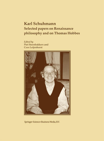 Selected papers on Renaissance philosophy and on Thomas Hobbes - Coverbild