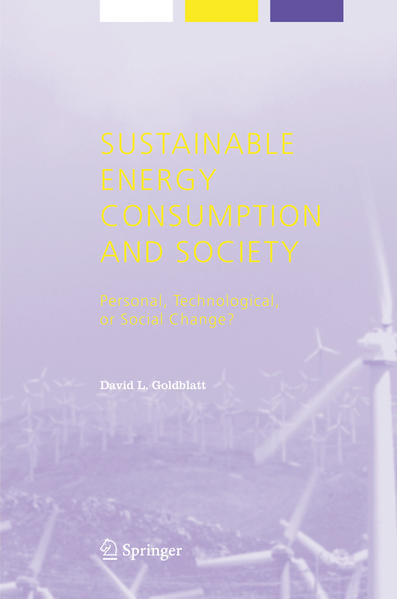 Sustainable Energy Consumption and Society - Coverbild