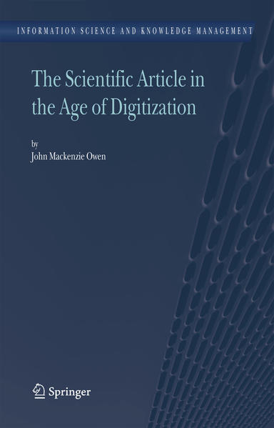 The Scientific Article in the Age of Digitization - Coverbild