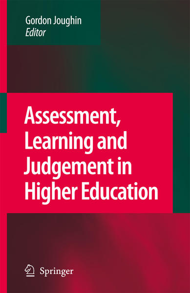Assessment, Learning and Judgement in Higher Education - Coverbild
