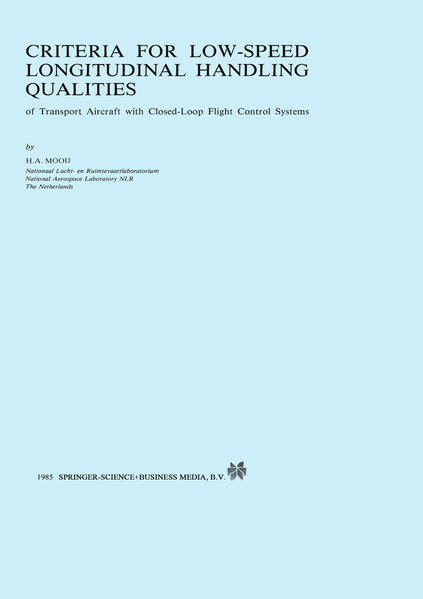 Criteria for Low-Speed Longitudinal Handling Qualities - Coverbild