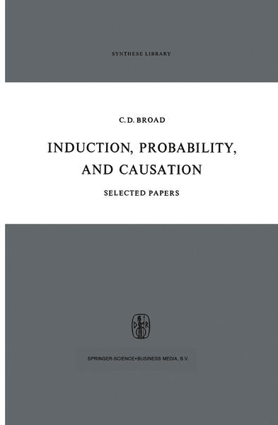 Induction, Probability, and Causation - Coverbild