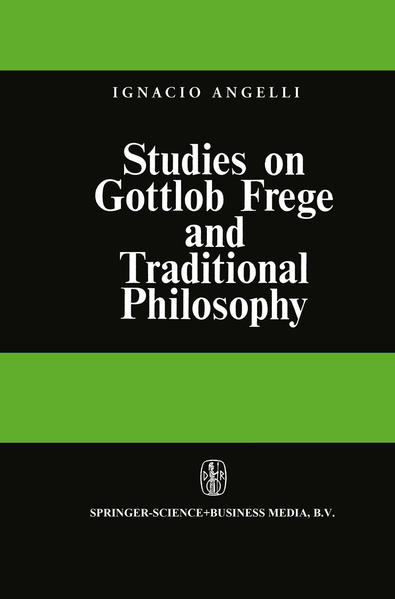 Studies on Gottlob Frege and Traditional Philosophy - Coverbild