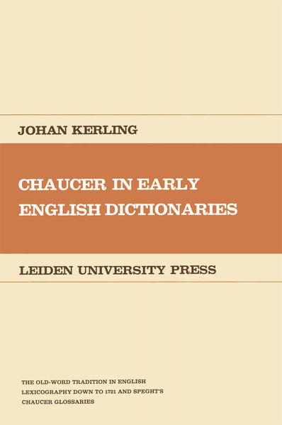 Chaucer in Early English Dictionaries - Coverbild