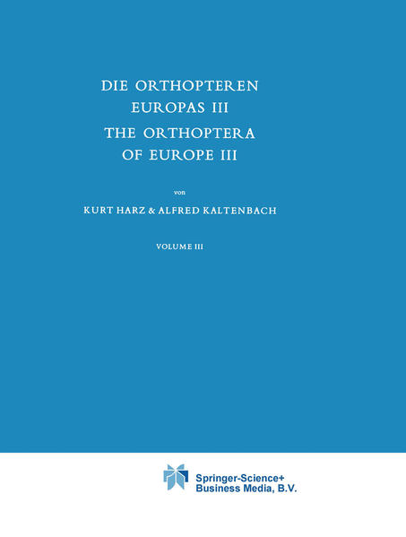 Die Orthopteren Europas III / The Orthoptera of Europe III - Coverbild